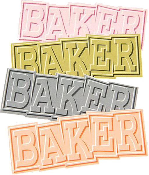 BAKER RIBBON DECAL SINGLE ASST.