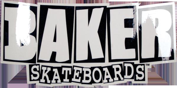 "BAKER BRAND LOGO SM DECAL BLK/WHT 2x4"""