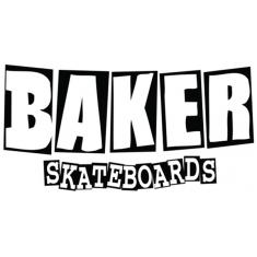 "BAKER BRAND LOGO MD DECAL BLK/WHT 4x8.5"""