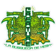 """CREATURE BUSQUEDA DE HESH DECAL 3.25x4"""" BLK/GN/YL"""