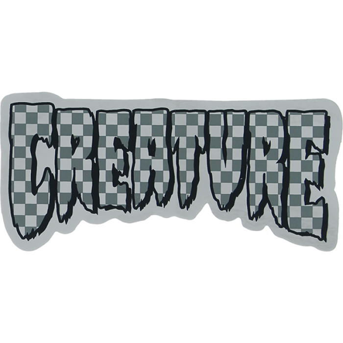 CREATURE LOGO CHECK FOIL DECAL 2x4.25""