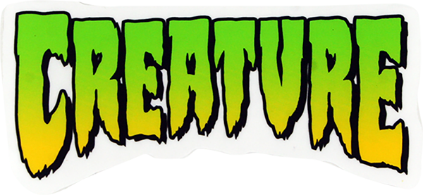 "CREATURE LOGO 2""x1"" DECAL CLR/GRN/YEL"