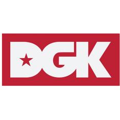 DGK CLASSIC STICKER WHITE/RED