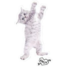 "KRUX KITTY HANGER DECAL 3.77""x5.11"" CLEAR single"
