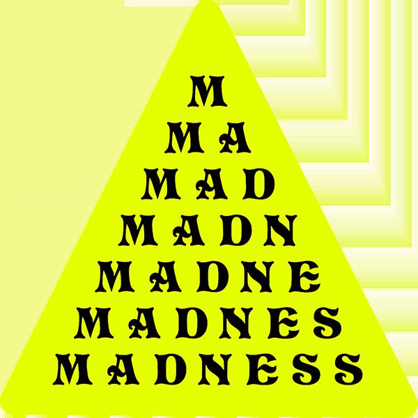 MADNESS PYRAMID DECAL SINGLE YELLOW