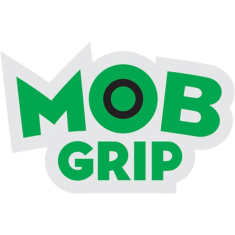 "MOB GRIP LOGO DECAL 1.75""x1"" GRN/BLK"
