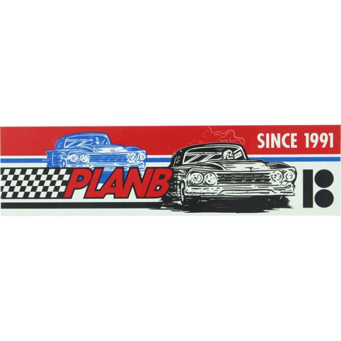 PLAN B RACER DECAL - single