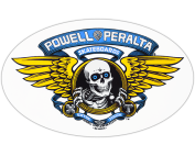 PWL/P WINGED RIPPER OG OVAL DECAL BLUE
