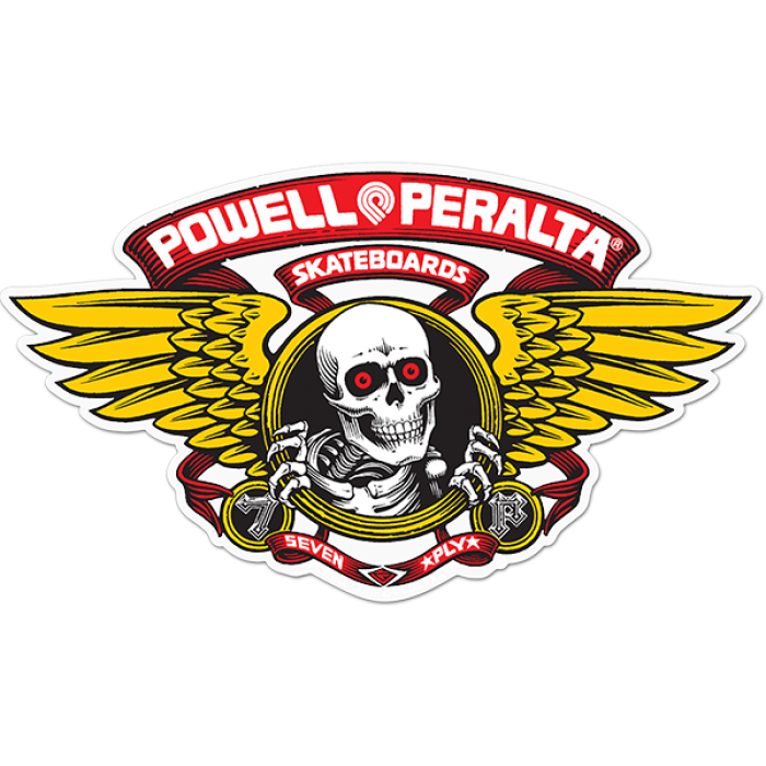 "PWL/P WINGED RIPPER DIE-CUT 5"" RED DECAL"