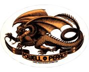 PWL/P OVAL DRAGON DECAL single