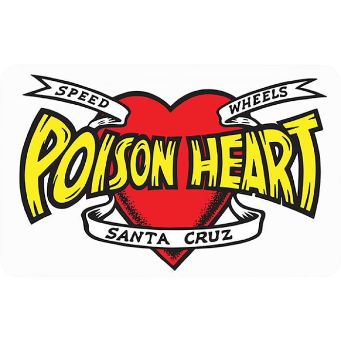 "SC POISON HEART DECAL 3.12""x5"" RED/YEL/BLK"