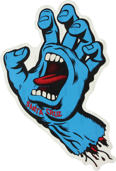 """SC SCREAMING HAND 6"""" DECAL assorted colors"""