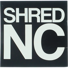 "SHRED STICKERS PRINTED SHRED NC STACK 3""BLK/WHT"