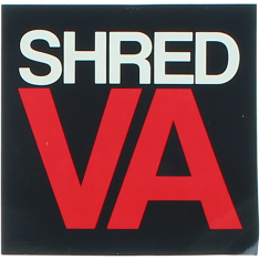 "SHRED STICKERS PRINTED SHRED VA STACK 3"" BLK/WT/RD"
