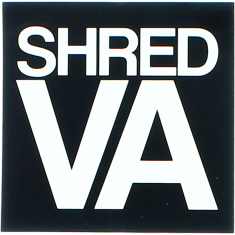 "SHRED STICKERS PRINTED SHRED VA STACK 3"" BLK/WHT"