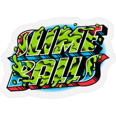 SLIME BALLS GREETINGS FROM STICKER CLEAR