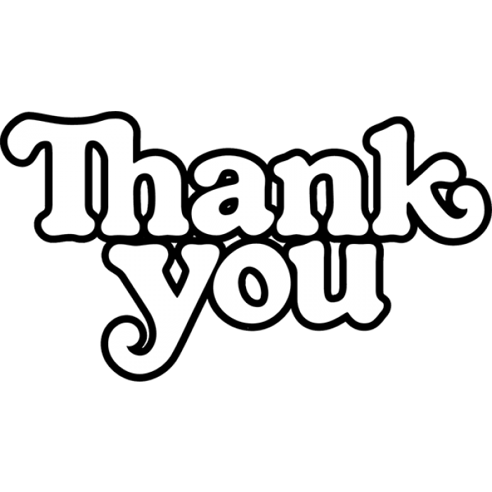 THANK YOU LOGO DECAL single