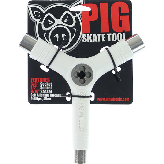 PIG SKATE TOOL-WHITE tri-socket/threader