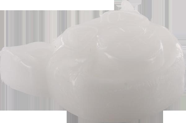 PIG HEAD RAISED CURB WAX WHITE