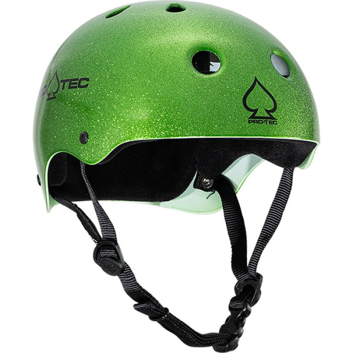 PROTEC CLASSIC CANDY GREEN FLAKE-XS HELMET
