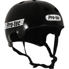 PROTEC CL.OLD SCHOOL GLOSS BLK/WHT-XS HELMET