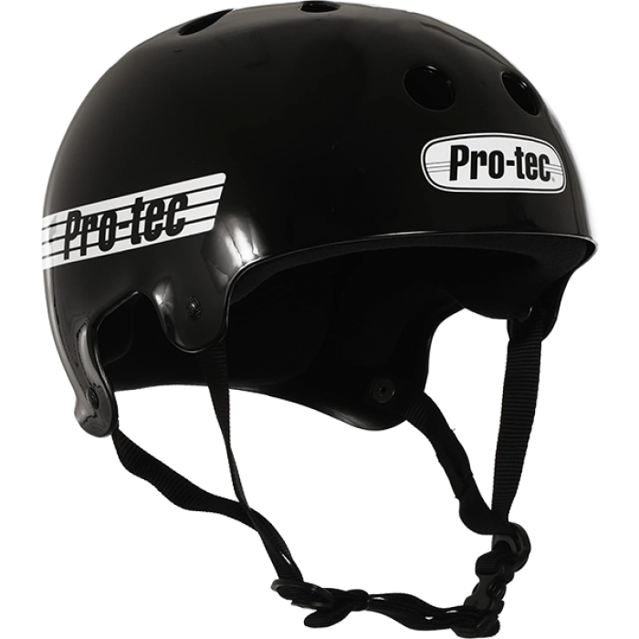PROTEC CL.OLD SCHOOL GLOSS BLK/WHT-XL HELMET