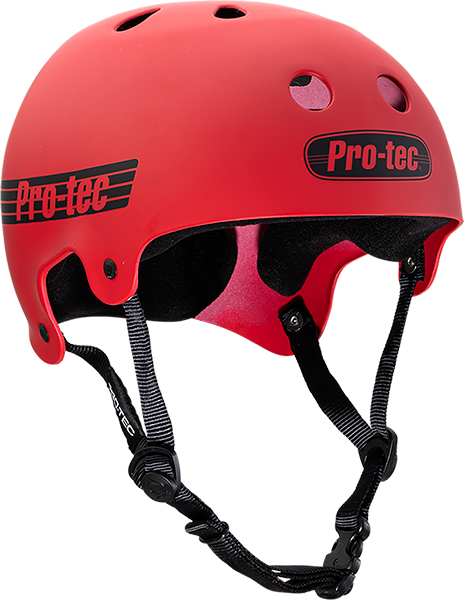 PROTEC CL.OLD SCHOOL MATTE RED-XL HELMET