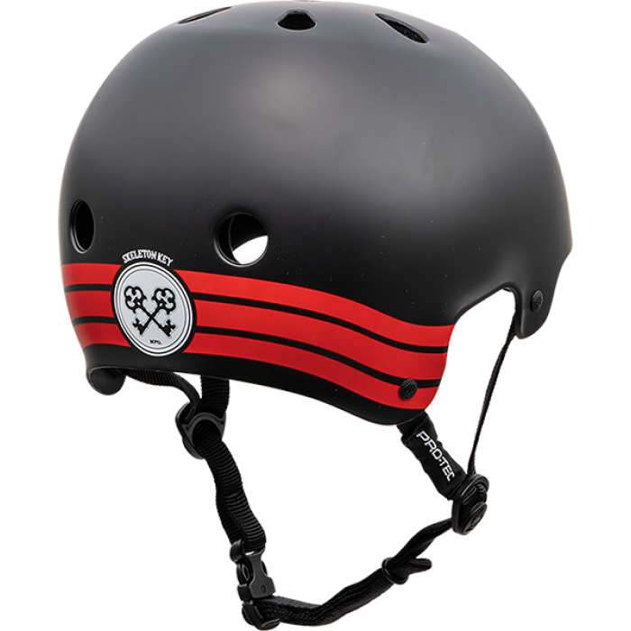 PROTEC CL.OLD SCHOOL SKELETON KEY BLK/RD-XS HELMET