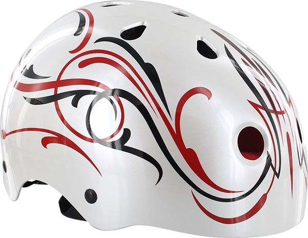 PROTEC CAB CLASSIC XS-GLOSS WHT/RED/BLK PINSTRIPE
