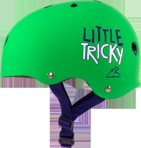 T8 LITTLE TRICKY HELMET GREEN RUBBER eps liner