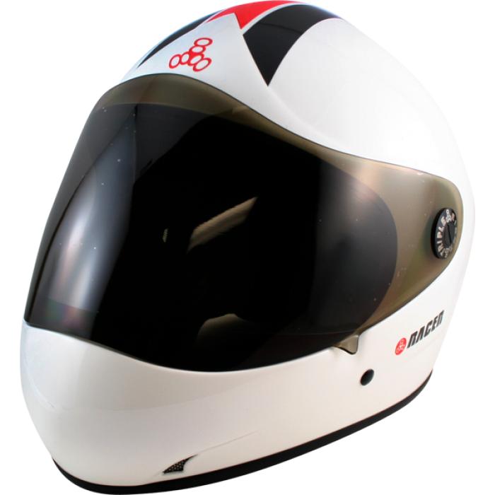 T8 RACER II HELMET XS-WHITE GLOSS cpsc/atsm