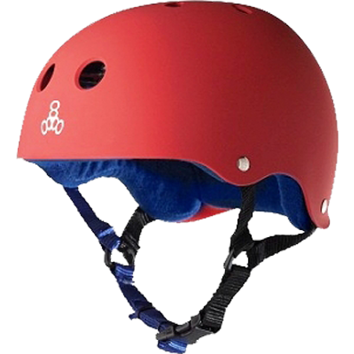 T8 HELMET RED RUBBER/BLUE S