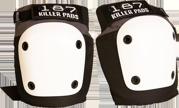 187 FLY KNEE PADS XL-GREY/BLACK W/WHT