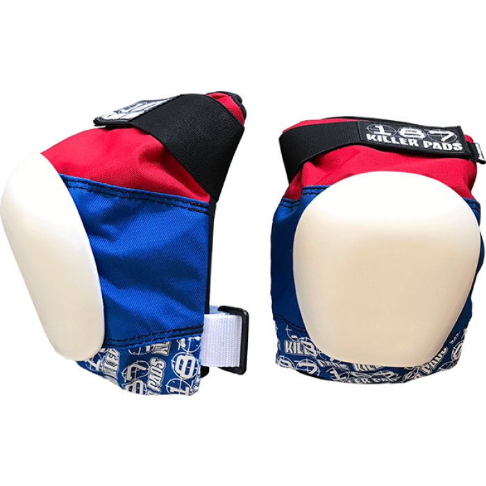 187 PRO KNEE PADS XL-RED/WHT/BLU