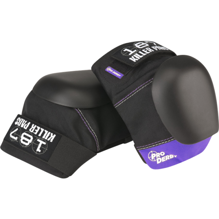 187 PRO DERBY KNEE PADS XS-BLK/PURPLE