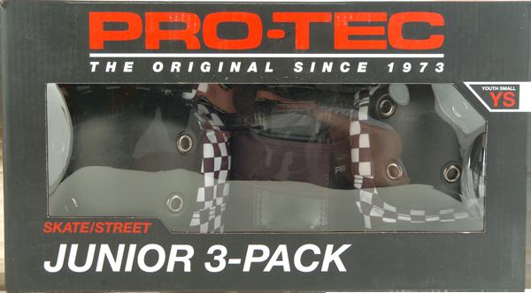 PROTEC JUNIOR 3 PACK BOX YS-CHECK BLK/WHT