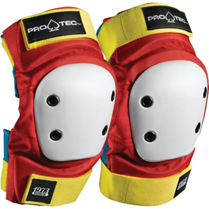 PROTEC STREET ELBOW XL-RETRO(RED/BLUE/YEL)