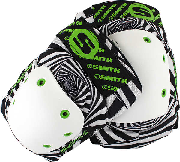 SMITH SCABS ELITE KNEE PADS XS HYPNO B&W