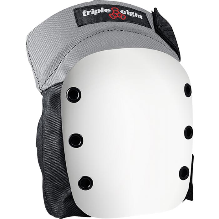 TRIPLE 8 STREET KNEE PAD XS-BLACK W/WHT CAP