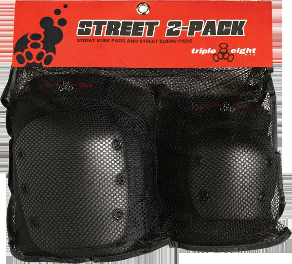 TRIPLE 8 STREET 2/PACK M BLACK