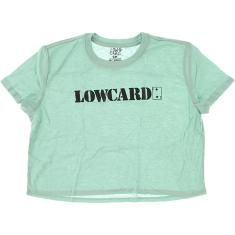 LOWCARD LOGO GIRLS CROP TOP SS L-TEAL/SOLID BLK