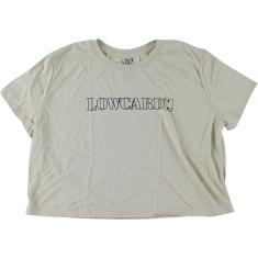 LOWCARD LOGO GIRLS CROP TOP SS L-NAT/BLK OUTLINE