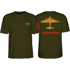 BONES BRIGADE BOMBER SS S-MILITARY GREEN