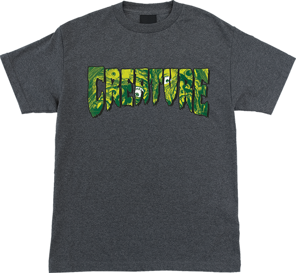 CREATURE LOGO FEAST SS S-CHARCOAL HEATHER