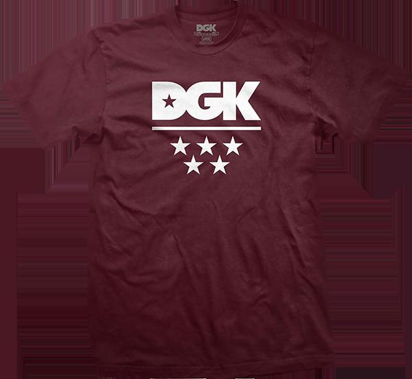 DGK ALL STAR SS S-BURGUNDY