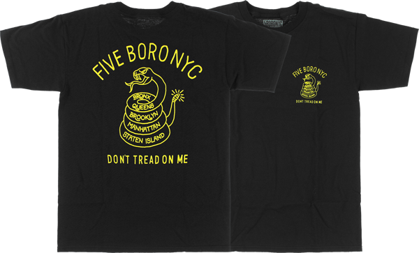 5BORO DON'T TREAD ON ME SS S-BLK/YEL