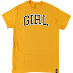 GIRL ARCH TEE SS L-GOLD