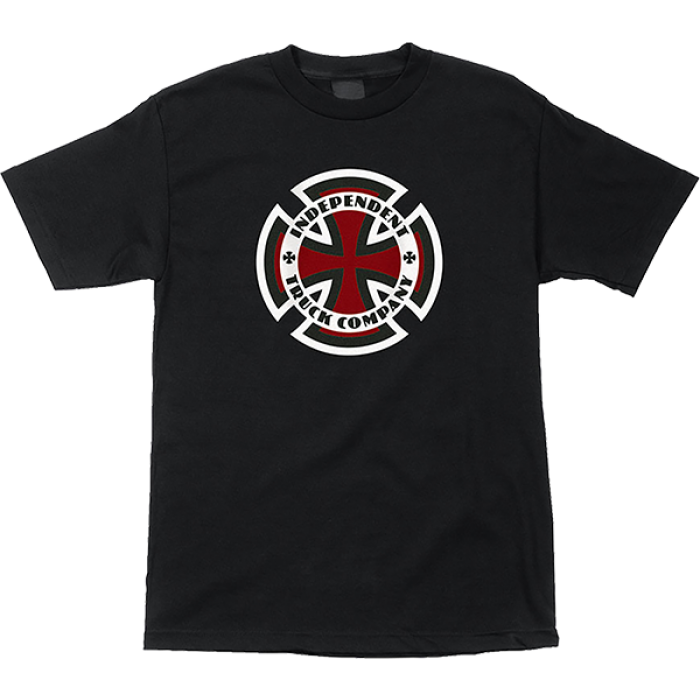 INDE RINGED CROSS SS S-BLACK
