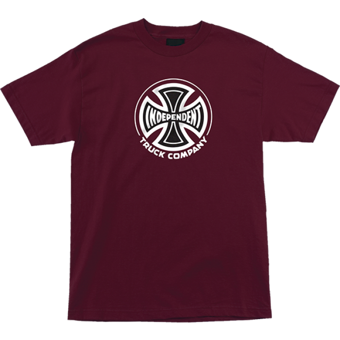 INDE TRUCK CO SS S-BURGUNDY