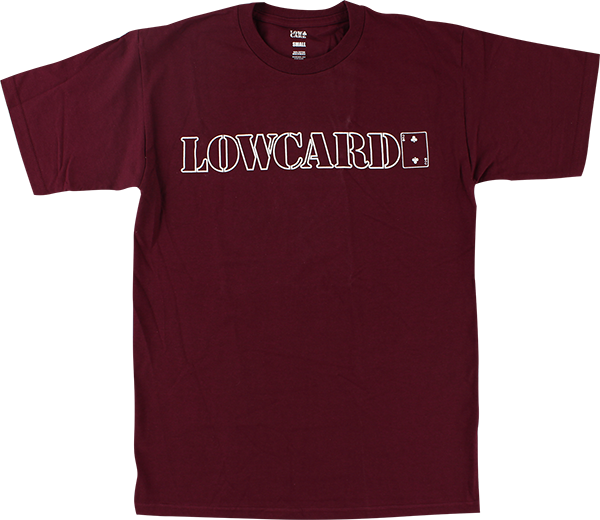 LOWCARD STANDARD LINE SS M-MAROON/WHT